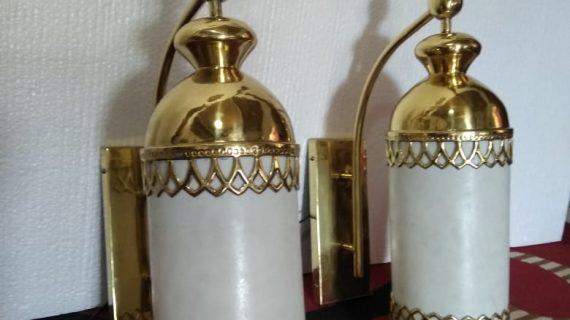 lampu kuningan dinding