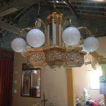 lampu gantung kuningan antik