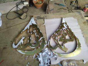 harga kaligrafi kuningan pintu ka'bah