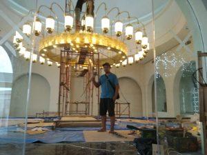 lampu gantung kuningan kuno