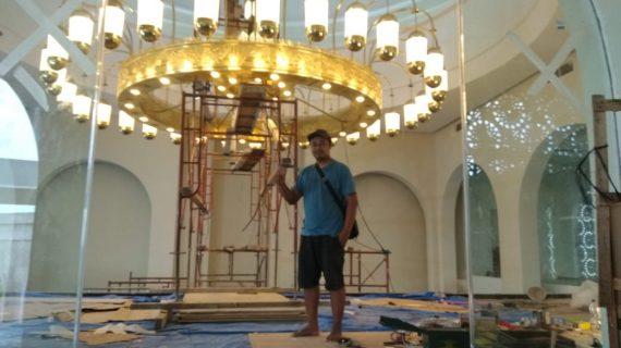 Lampu Gantung Kuningan Kuno Hiasan Masjid