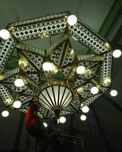 lampu antik tembaga